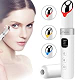 ANLAN Masajeador de Ojos con Luz LED, 38-45° Calor, Vibración Sónica, Pantalla LCD, USB Recargable, Remover las Arrugas para Oscuro Círculos y Hinchazón, Facial Anti-envejecimiento
