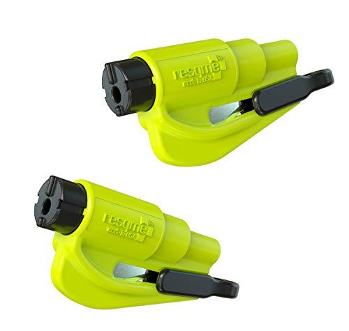 Resqme GBO-RQM-YELLOWFLUO Herramienta Rompecristales, Amarillo Fluorescente, 2 Unidades  en oferta