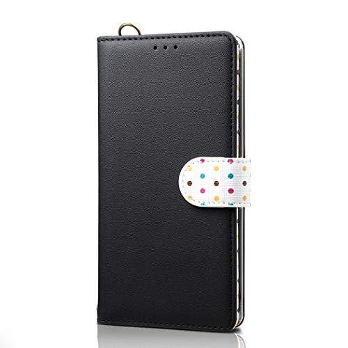 Langlin para Samsung Note10/Note10plus Estuche 2 en 1 Estuche anticaída Estuche para teléfono móvil Estuche para Billetera con cordón para SamsungS10/S10plus/S10 5g/S10lite/S10e,Negro,SamsungS10