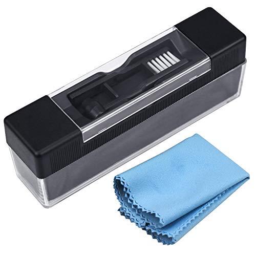 yotako Limpiador de Discos de Vinilo Kit, Terciopelo Anti estática Cepillo de Limpieza, Cepillo de Limpieza para lápices capacitivos con Gamuza de Limpieza de vinilos