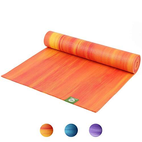 Lotus Design Yogamatte Oeko-TEX, für Anfänger und Fortgeschrittene, rutschfest, Gute Dämpfung, Bedruckt, Design Yogamatten für Yoga, Pilates, Sport und Gymnastik, 183 x 61 cm, 6 mm, PVC