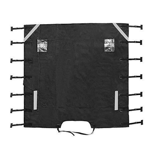 GCDN Cubierta de remolque delantera para caravana, impermeable, cubierta protectora para caravana con luz LED para caravana, remolque, autocaravana (negro)