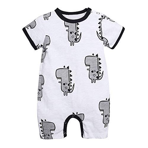 Julhold Pasgeboren Baby Jongen Meisje Zomer Leuke Cartoon Dinosaur Casual Romper Jumpsuit Outfits Kleding 0-24 Maanden Nieuw