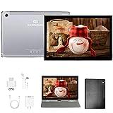Tablette 10.8 Pouces Android 10, 4 Go RAM 64 Go ROM / Évolutif 512GB avec 5G WI-FI Tablette Tactile, Caméra HD 16MP + 8MP, 4G...