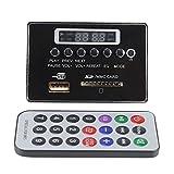 Placa de decodificación DC12V, módulo de audio decodificador sin pérdidas de radio compatible con WMA/WAV MP3 USB FM(12V Black)