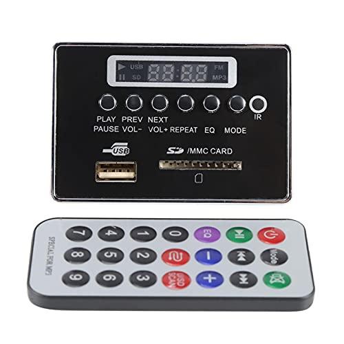 Módulo MP3, sin pérdidas WMA/WAV Tarjeta decodificador USB SD TF Digital LED Módulo de audio MP3 Decodificador para lectura de canciones (12 V Bluetooth edición negra)
