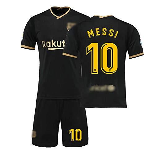 WQXD Messi Fußball Uniform Für Kinder Männer, Barcelona 11O.dembele 17 Griezmann 22 Vidal 5 Sergio 20-21 Heim und Auswärts Fußball Trikot mit Fußballsocken Jungen T-Shirt Club Team Trainingsanzug-04-
