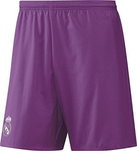 adidas Herren Real Madrid Away Replica Shorts, Ray Purple/Crystal White, L
