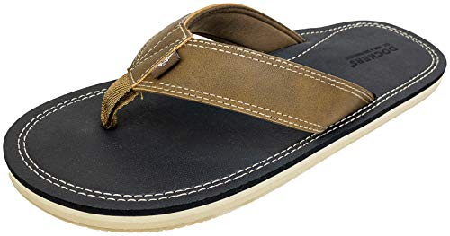 Dockers Men's Flip Flop Sandal ; Classic Comfort Footbed with Two-Tone Upper, Size 8 to 13 (Black Pebble, Numeric_11)