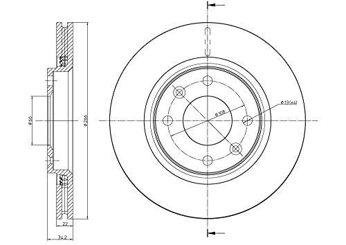 metelligroup 23-0555C Bremsscheiben Lackiert, Kit bestehend aus 2 Bremsscheiben, Ersatzteil im Auto, ECE R90-zertifiziert