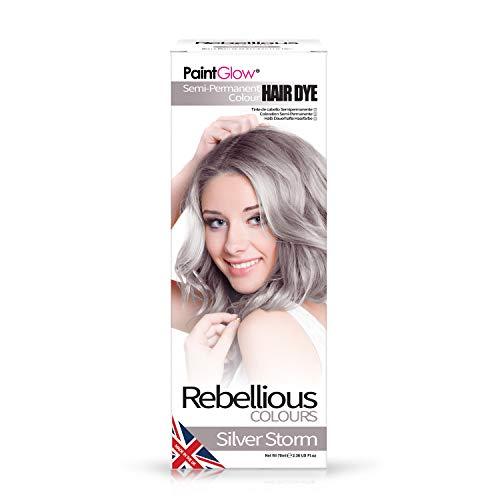 Rebellious Colours 100% Vegan Semi Permanent Hair Dye Colour 70ml (Silver...