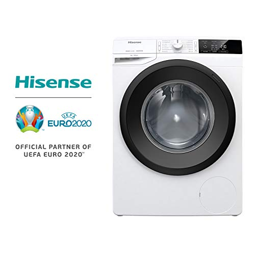 Hisense WFGE8014V - Lavatrice carica frontale, libera installazione, 8 Kg, Classe A+++, 1400 giri