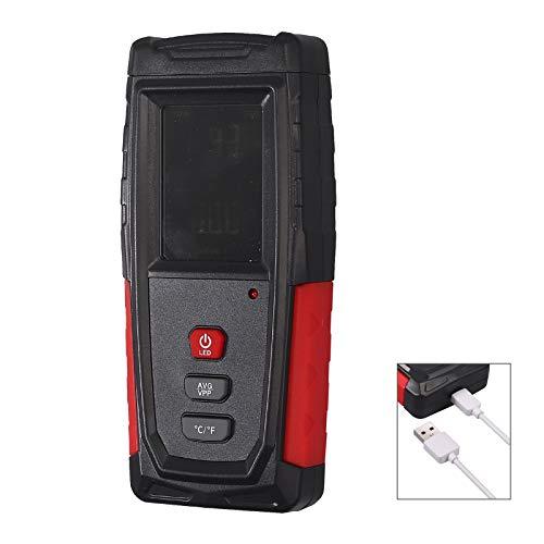 CAMWAY EMF Meter EMF Messgerät, Mini Strahlenmessgerät Radiation Detector eingebauter Lithium-Ionen-Akku mit USB-Ladekabel, mit Ton,Licht,Farbe,DREI Alarme