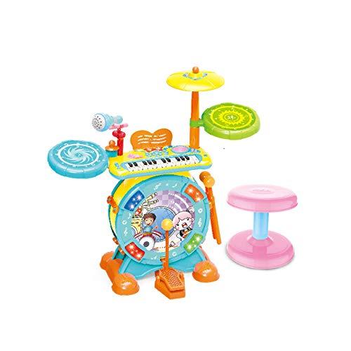 Carga de diversión Grupo de percusión for niños principiantes golpe de tambor tambor piano electrónico de la música del juguete Boy Niña de instrumentos musicales (sin la batería) Ayuda con las habili