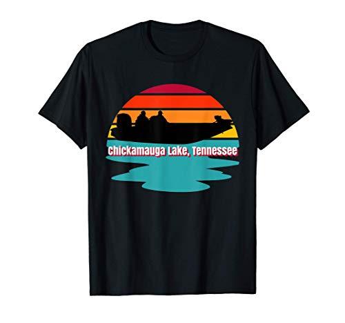 Chickamauga Lake Tennessee Bass Boat Sport Fishing Angler T-Shirt