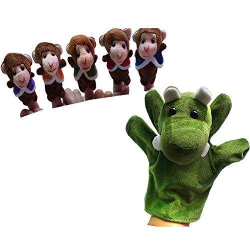 Urisgo Marionetas de Dedo, Cinco monitos con Forma de balanceo de pequeños Animales de Granja Juguetes para bebés