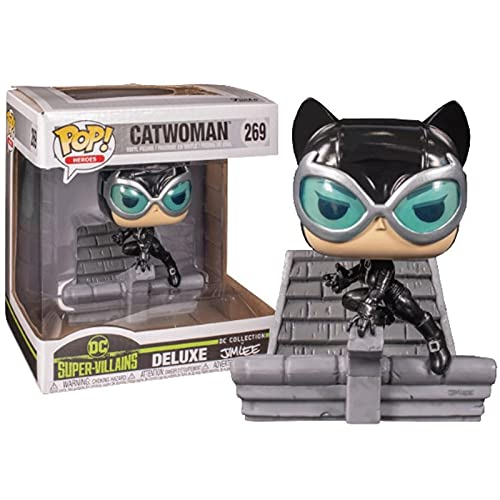 Funko Pop Heroes : DC Super Villains - Catwoman Deluxe Hush Jim Lee 3.75inch Vinyl Gift for Heros Movie Fans Chibi