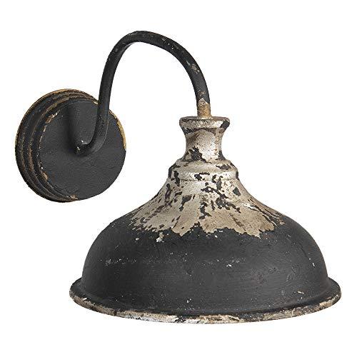 Clayre & Eef 5LMP296 - Lampada da parete in ferro marrone