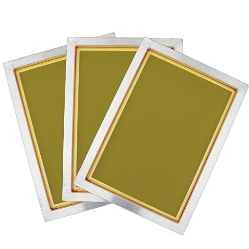 Almencla 3er Pack 120T Siebdruckrahmen aus Aluminium, Siebdruckrakel für Siebdruck
