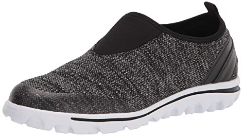 PropÃt womens Travelactiv Slip-on Sneaker, Black Heather, 10 Narrow US