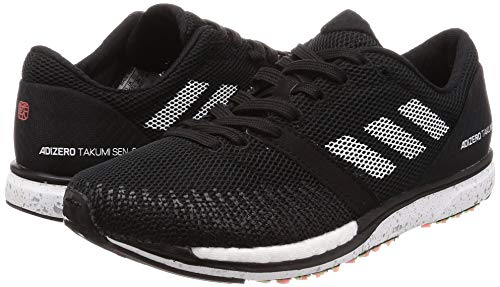 adidas Adizero Takumi Sen 5, Chaussures de Running Mixte, Noir (Core Black/FTWR White/Carbon Core Black/FTWR White/Carbon), 46 EU