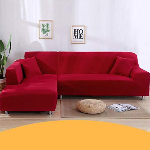 KKDIY Funda de sofá para Sala de Estar Funda elástica en Forma de L Chaise Longue 1/2/3/4 plazas Sofás Estuche Fundas elásticas-003, Seater3 (190-230CM), China