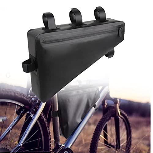 YepYes Cuadro De La Bicicleta Bolsa De MTB Bici del Camino del Bolso del Triángulo Tubo Impermeable Ciclo Bolsos con Reflexivo Raya para Teléfono del Vendedor, ID, Reparación De Herramienta