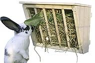 Hay Rack with Wooden Seat, 25 x 17 x 20 cm