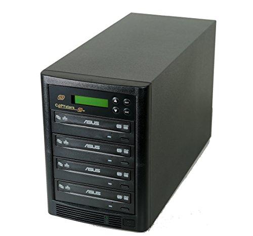 Copystar SYS-500GB-4+USB-CST DVD Duplicator 500 Gb Hard Drive Smart Plus USB 3.0 to 4 Cd DVD Burners Sata Tower