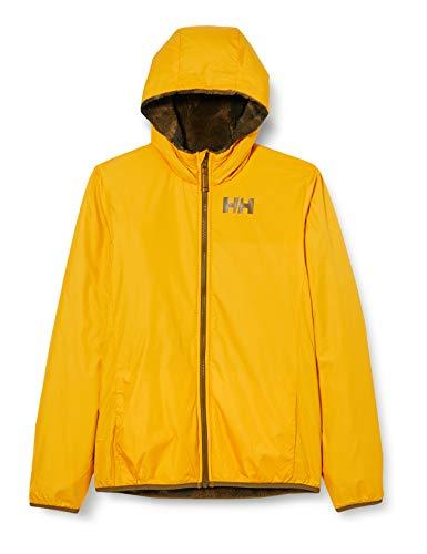 Helly Hansen Champ REVERISBLE Water Repellant Jacket Abrigo de Vestir, 343 Golden Glow, 14 Unisex niños