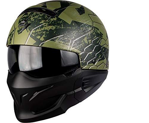 Scorpion Motorradhelm - Exo Combat Ratnik, Noir/Vert, Größe L