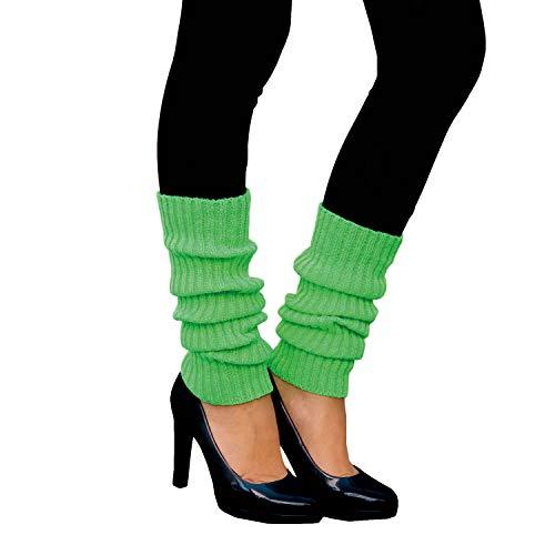 Oblique Unique® Sexy Damen Bein Stulpen Neon Strümpfe für 80er Jahre 80s Motto Party Fasching Karneval Tanzen Aerobic Kostüm Accessoires - Farbe wählbar (Neongrün)