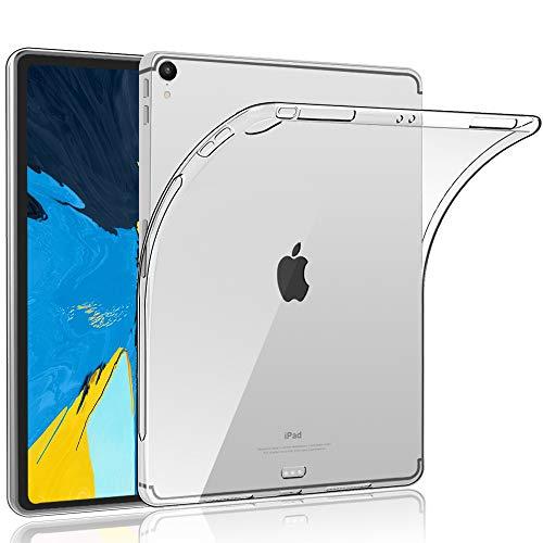HBorna Silikon Hülle für iPad Pro 11 Zoll 2018, Crystal Case Cover, Dünn Soft Lichtdurchlässig Rückseite Abdeckung Schutzhülle für Apple iPad Pro 11 A1980 A1934 A2013 A1979, Transparent