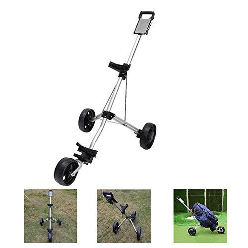 FXQIN Golfwagen klappbar, Golf trolleys 3 Rad, Golf Push Cart golftrolley zubehör,Golfwagen mit Scorekarten-Halterung