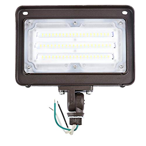 CINOTON 50W LED Flood Light Outdoor, IP65 Waterproof Led Flood Light with Knuckle Mount 6000 Lumen (400W Incandescent Equivalent) 5000K Daylight LED Flood Light for Yard Garden Garage DLC&ETL Listed