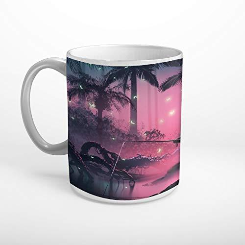 Stufffactory Angler Dschungel Glühwürmchen Mystisch Fantasy Tasse Spruch Motiv Fototasse Kaffeebecher T1071