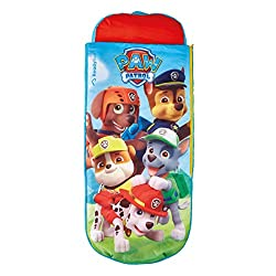 2 in 1 Paw Patrol airbed and sleeping bag from ReadyBed With pump and handy carry bag included, you'll go from bag to bed in minutes Cosy, machine washable cover means you can keep the air bed cover and sleeping bag snuggly, clean and fresh Ideal cam...