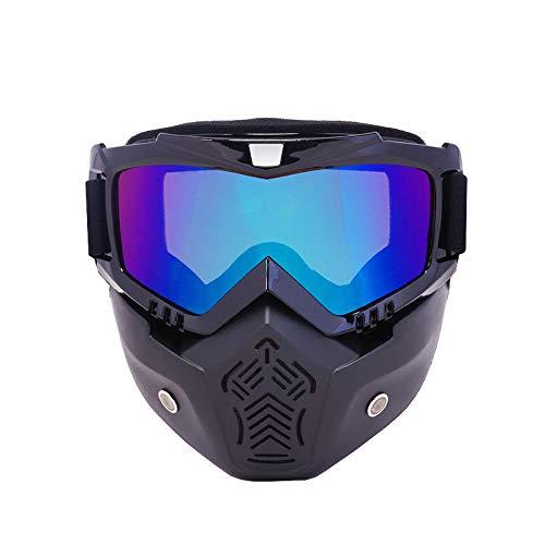 Skibril voor brildragers vrouwen skibril snowboard masker winter motorslee skibril winddicht skiglas motorcross zonnebril met mondfilter