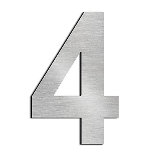 F/ácil de instalar y hecho de acero inoxidable s/ólido 304(N/úmero 4) nanly N/úmero de casa moderna-30.5cm//12pulgadas-Acero inoxidable Apariencia flotante