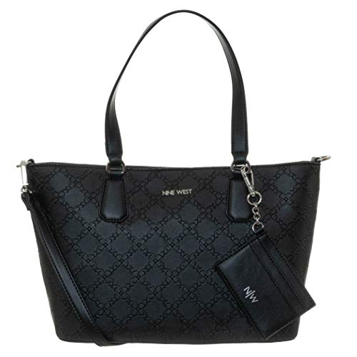 Nine West Marcelie Small Trap Tote Black One Size