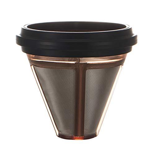 Ersatz Hand Made Coffee Filter Kapsel Nachfüllbare Kapseln Wiederverwendbare Kaffee- Kapsel Kunststoff Edelstahl Filter Kaffeefilter für Kaffeekapsel mit Löffel und Pinsel (Schwarz)