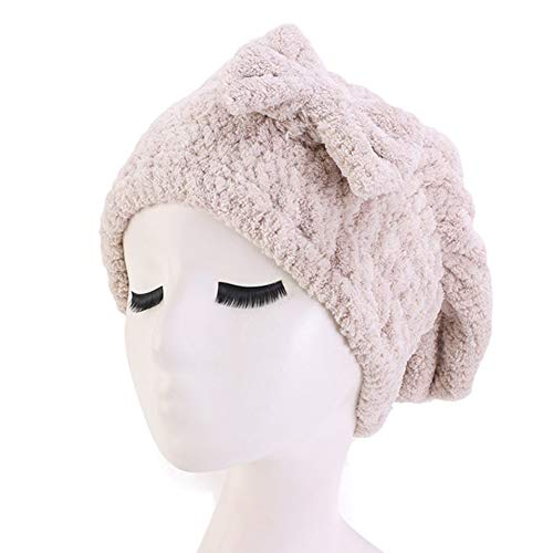 Asudaro Serviette Cheveux, Femme Fille Serviette Absorbante en Microfibre Bonnet Turban Bonnet de Douche épaissi Serviettes à Séchage Rapide Bonnet Turban Noeud Serviette sèche-Cheveux Bonnet de Bain