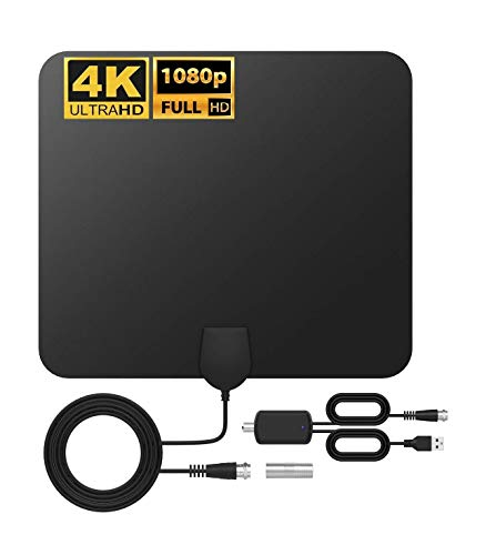 [2020 VERSION] Amplified HD Digital Tv Antennas -Antenna Series for Indoor Best One 2020.HDTV Signal Booster 95-130 Miles Range Support 1080p, For Smart TV, Clear Image As Seen On 4K,16.9ft Coax Cable