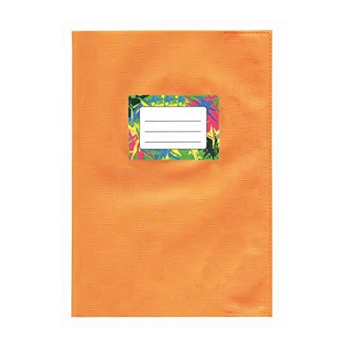 Heftumschlag - Buchumschlag A4 Orange mit Bastprägung