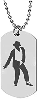 Michael Jackson Assorted Pendants Stainless steel Unisex MJ Pendant Necklace King Of Pop Dancer Star Charm Necklaces