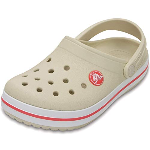 Crocs Crocband Clog Kids, Unisex-Kinder Clogs, Beige (Stucco/Melon), 27/28
