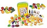 82 TLG Lebensmittel Set für Spielküche Kaufladen Obst Gemüse Speisen