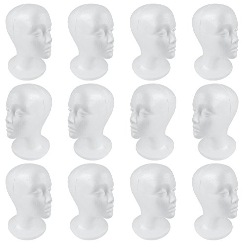 SHANY Styrofoam Model Heads/Hat Wig Foam Mannequin/One Dozen Jumbo Pack