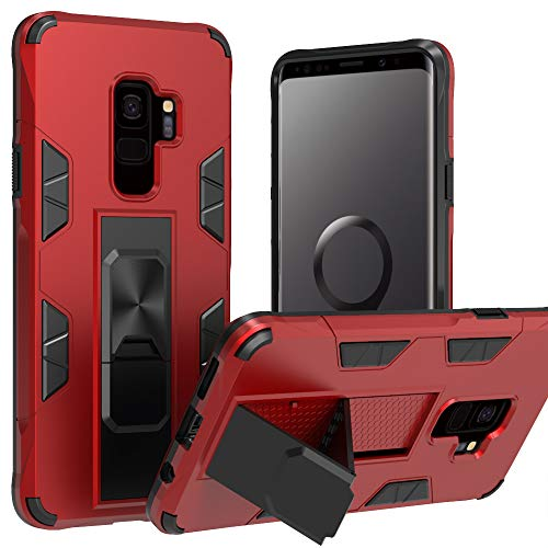 Samsung Galaxy S9 Case | Military-Grade Protection | 12ft. Drop Tested Protective Case | Kickstand | Magnetic Car Mount Holder | Compatible with Galaxy S9 - Red