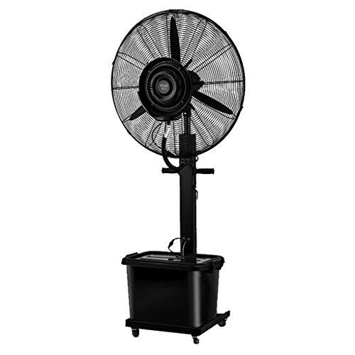 SPAQG Veiligheid Industrie Spray Ventilator, Twee In Een, 3 -Speed Oscillerende GG-58I1 Vloer Ventilator, Stille Werking Atomisatie Bevochtiging